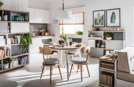Krzesła, stoły, lampy do jadalni