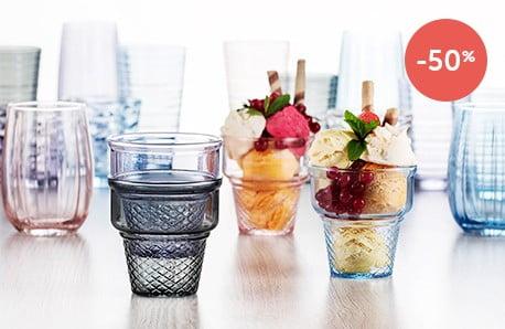 Przepiękna kolekcja naczyń szklanych