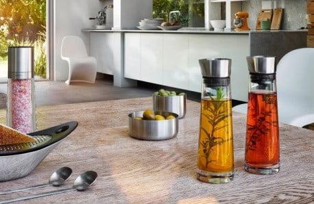Akcesoria kuchenne i łazienkowe ze stali nierdzewnej