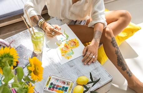 Produkty i akcesoria w żółtych odcieniach