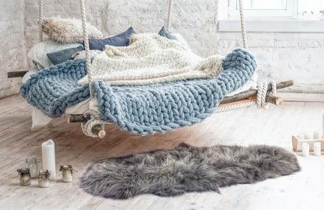 Dodatki z wełny i dywany skórzane
