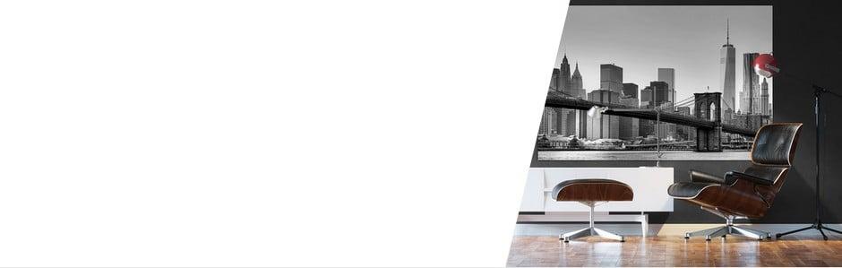 Czarno-białe tapety w rozmiarze XXL