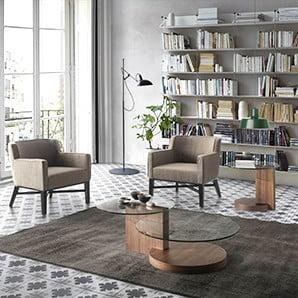 Nowoczesne stoły, stoliki, fotele i dodatki
