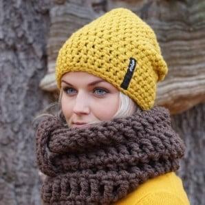 Ręcznie wykonane, modne czapki i kominy marki DOKE