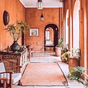 Egzotyczne wnętrze, inspirowane podróżami