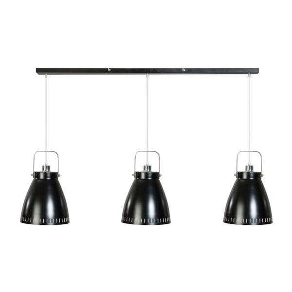 Czarna potrójna lampa wisząca ETH Acate