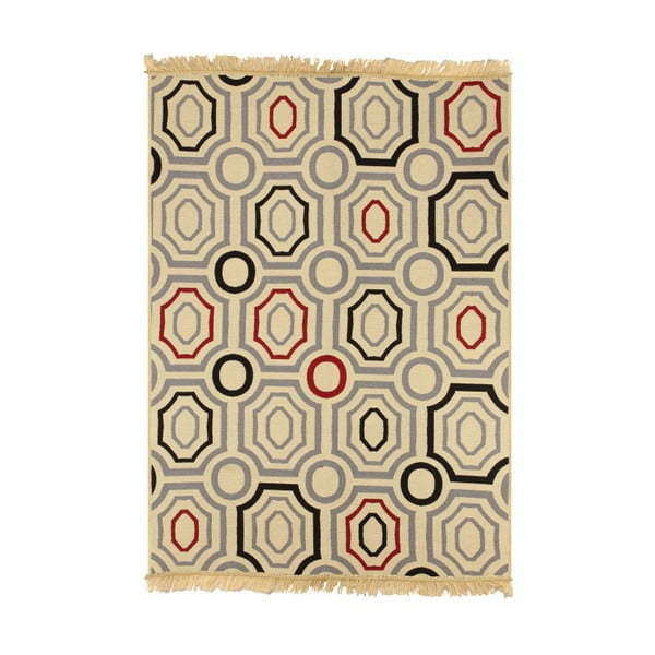 Niebiesko-beżowy dywan Ya Rugs ZigZag, 120x180cm