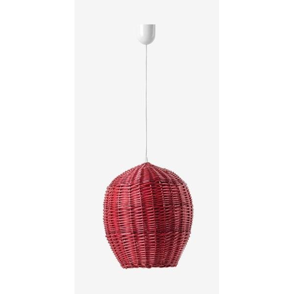 Lampa wisząca Egg, 28 cm, czerwona