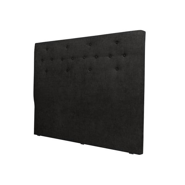 Czarny zagłówek łóżka Windsor & Co Sofas Phobos, 140x120 cm