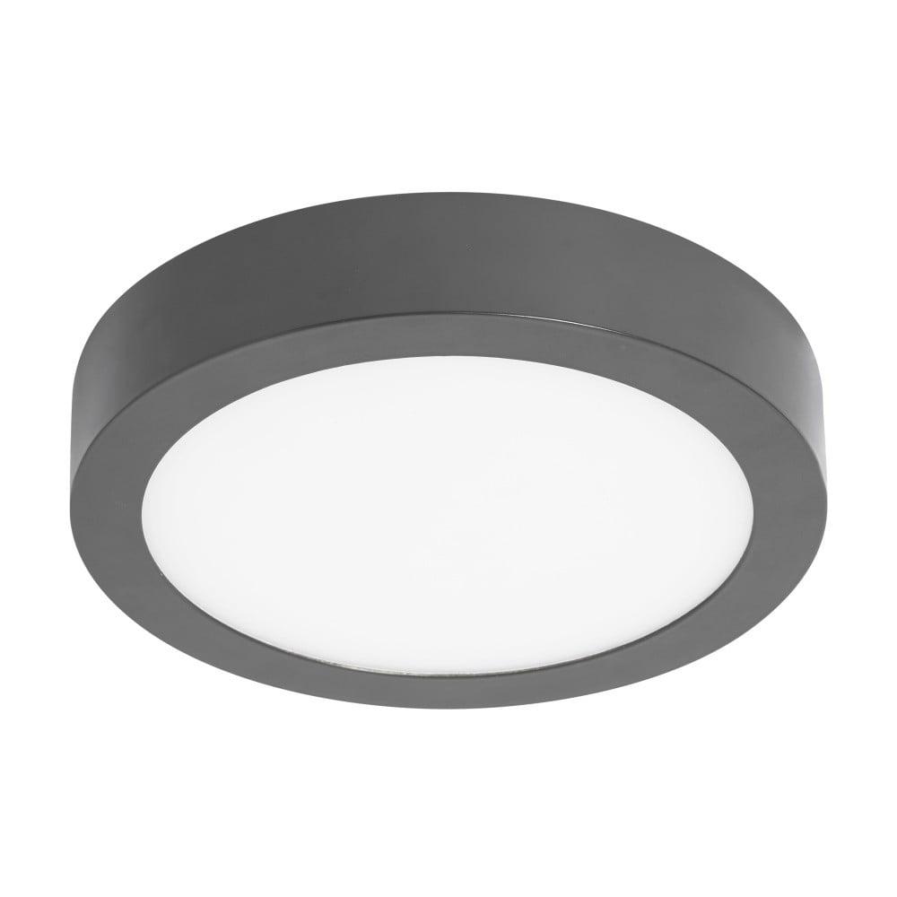 Szara okrągła lampa sufitowa SULION, ø 30 cm
