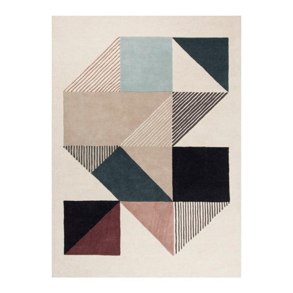 Dywan ręcznie haftowany Linie Design Mikill Mixed, 170x240 cm