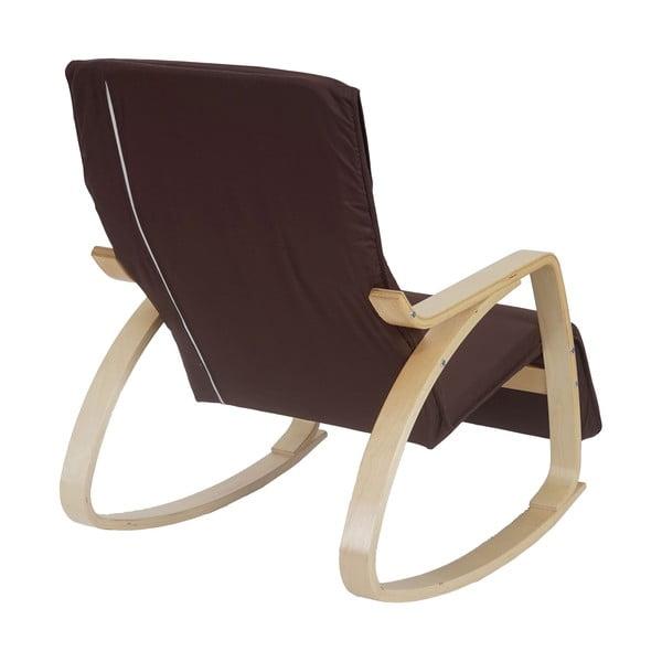Fotel bujany Vaasa, ciemnobrązowy