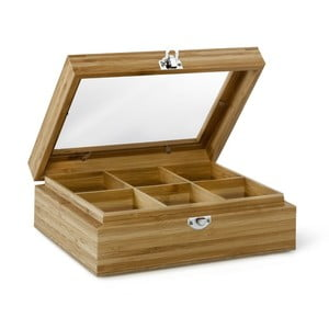 Bambusowe pudełko na herbatę z 6 przegródkami Bredemeijer