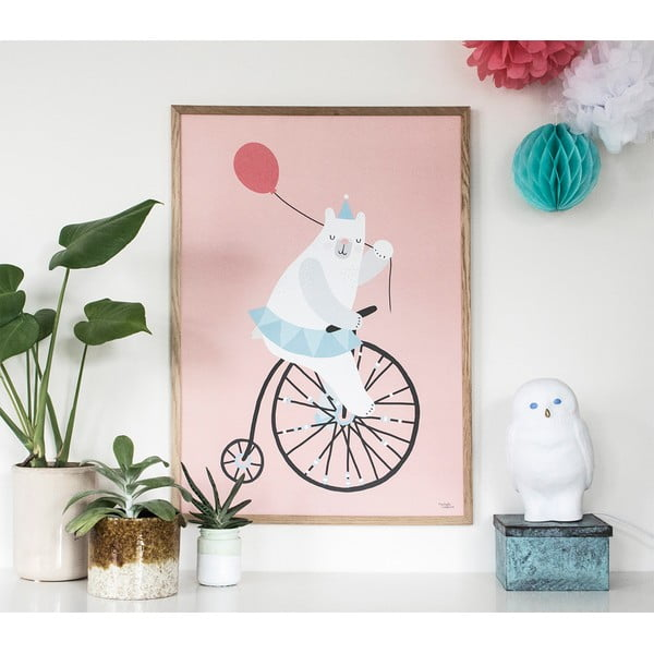 Plakat Michelle Carlslund Cycling Bear, 50x70 cm