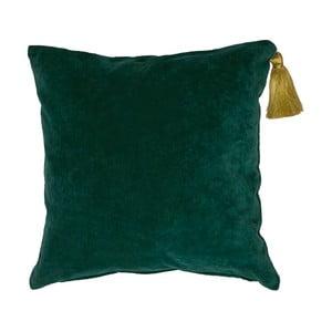Poduszka Miss Étoile Gold Tassel Dark Green, 50x50 cm