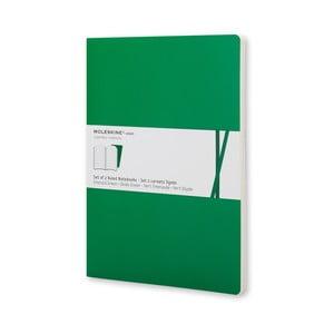 Zielony notes Moleskine Voilant, strony w linie