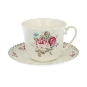 Kubek porcelanowy z podstawką Roses