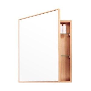 Lustro z szafką z drewna dębowego Wireworks Mezza, 45x55 cm