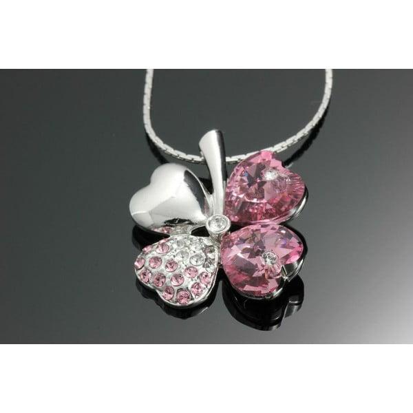 Naszyjnik Swarovski Elements Clove Pink