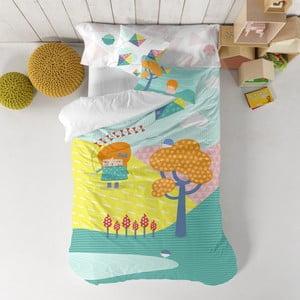 Pościel dziecięca z czystej bawełny Happynois Kite, 140x200 cm