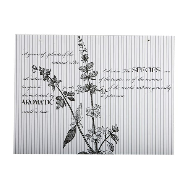Tabliczka Flores, 30x40 cm