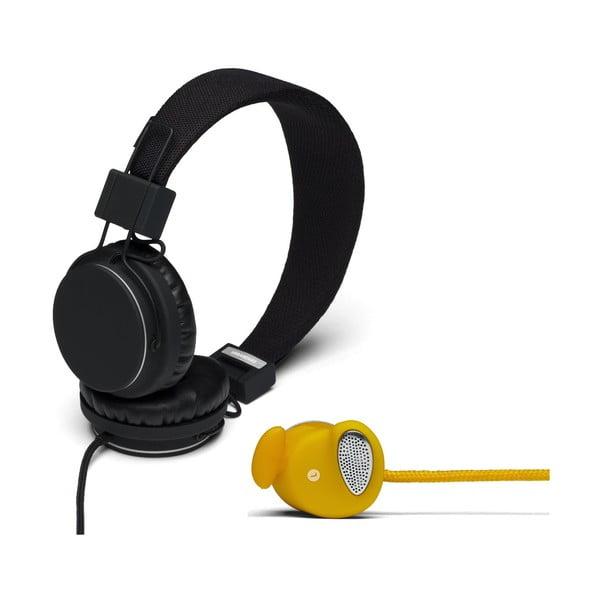 Słuchawki Plattan Black + słuchawki Medis Mustard GRATIS