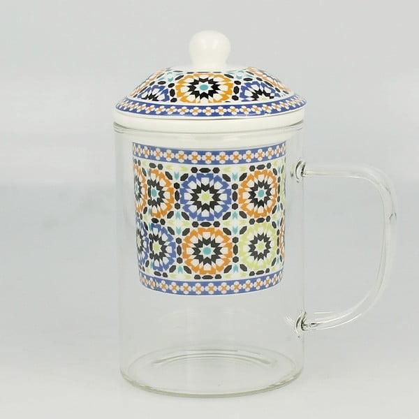 Szklany kubek z sitkiem Maroko A, 450 ml