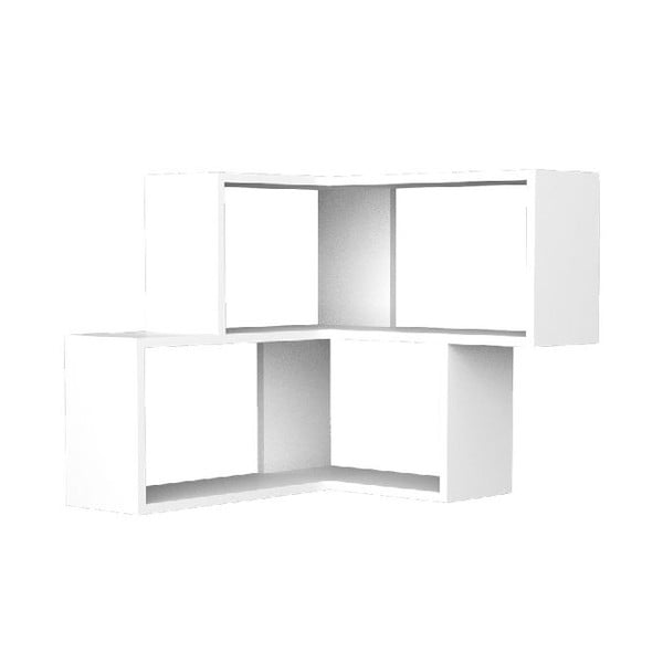 Półka narożna Corniel 61x70 cm White