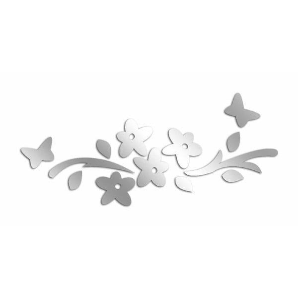 Lustro dekoracyjne Flower Butterflies
