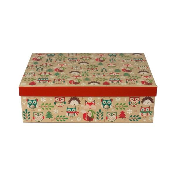Zestaw 3 szt. podłużnych pudełek Tri-Coastal Christmas Stories
