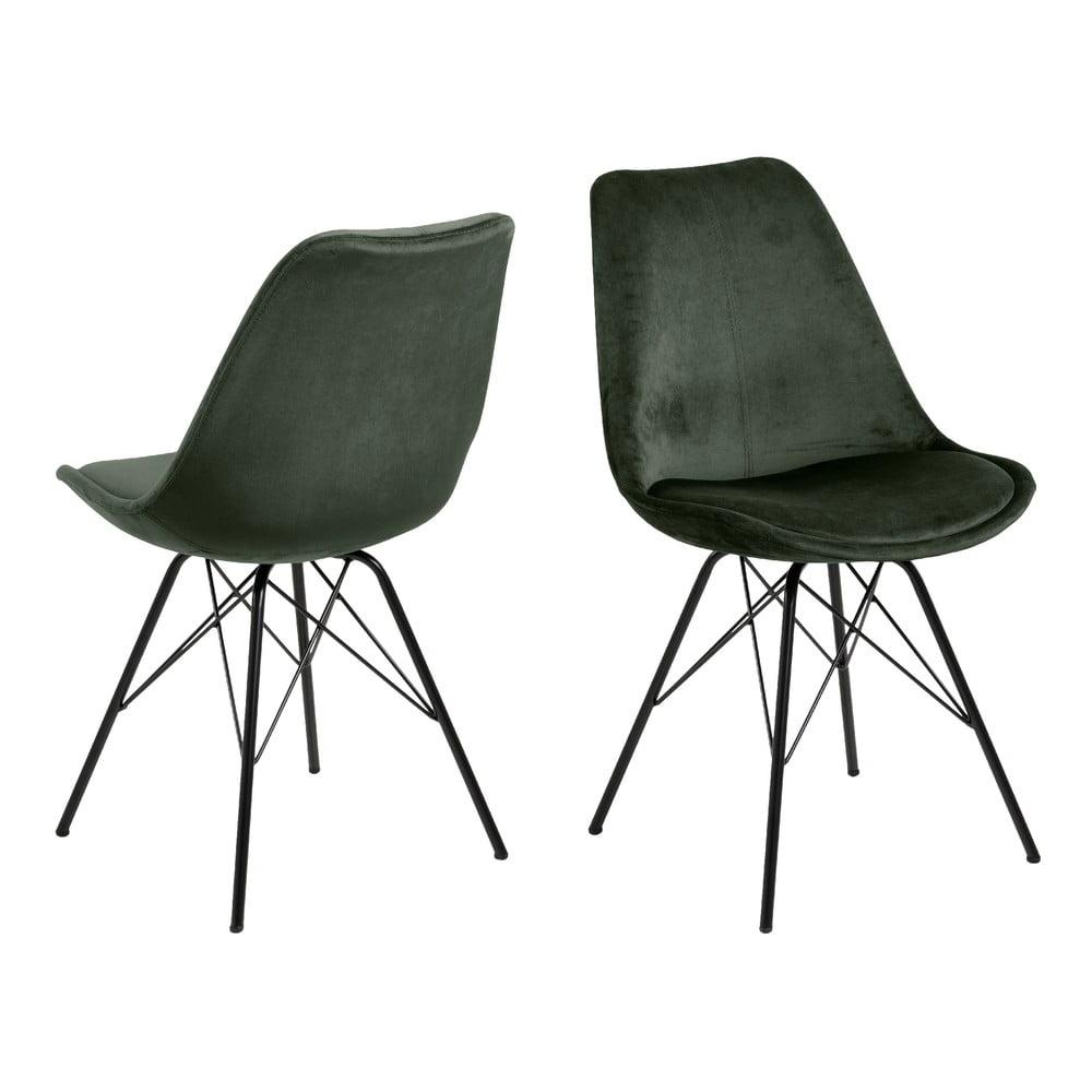 Ciemnozielone krzesło do jadalni Actona Eris