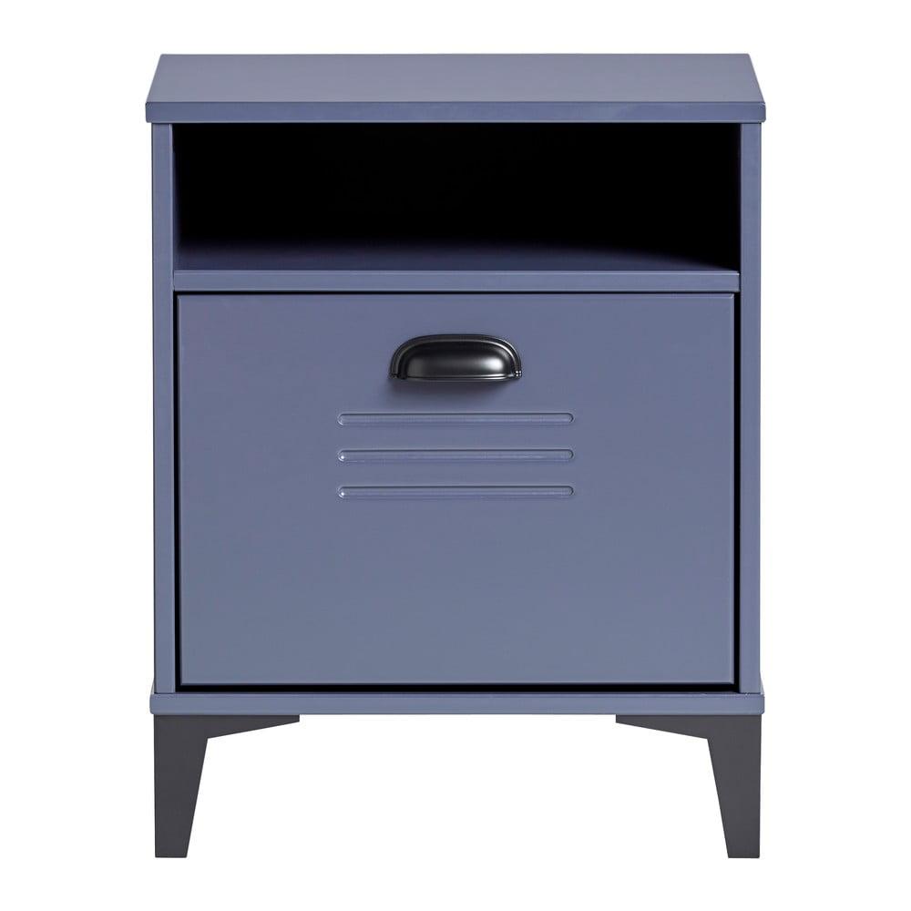 Niebieska szafka nocna Marckeric Zack