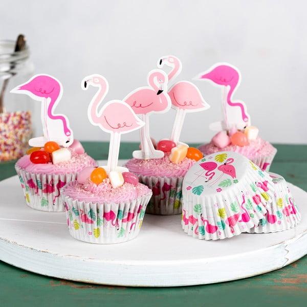 Komplet do dekoracji muffinek Rex London Flamingo Bay