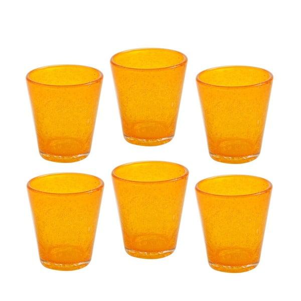 Komplet 6 szklanek Aqua Arancio