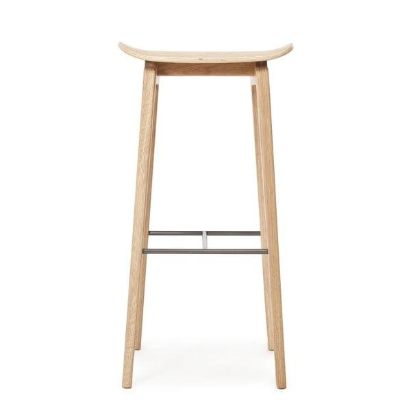 Drewniany stołek barowy NORR11 NY11, 75x35 cm