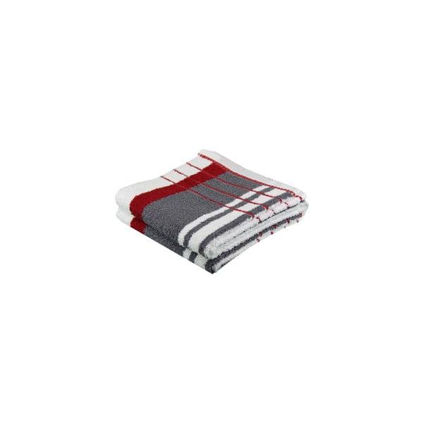 Ręcznik Berlin Antracite/Marron, 50x100 cm