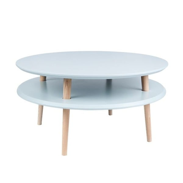 Jasnoszary stolik Ragaba UFO Ø 70 cm