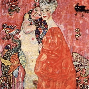Reprodukcja obrazu Gustava Klimta - Girlfriends or Two Women Friends, 60x60 cm