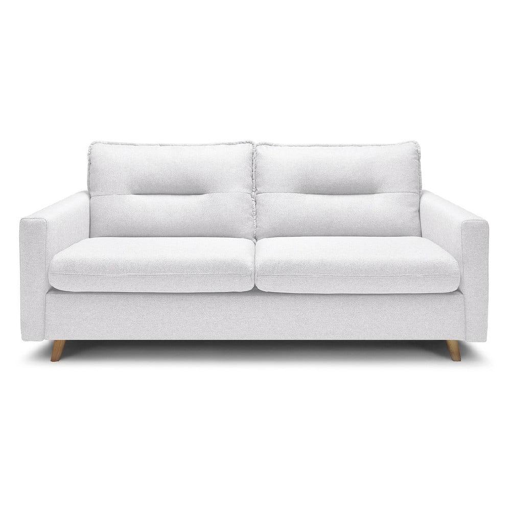 Biała 3-osobowa sofa rozkładana Bobochic Paris Sinki