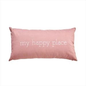 Rózowa poduszka Butlers Words My Happy Place