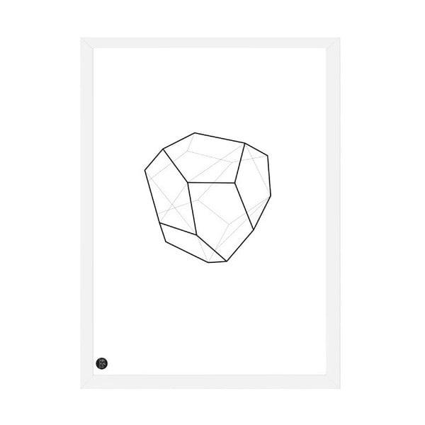 Plakat Emerald Geometric, 50x70 cm