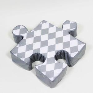 Szara poduszka Puzzle Rhomb