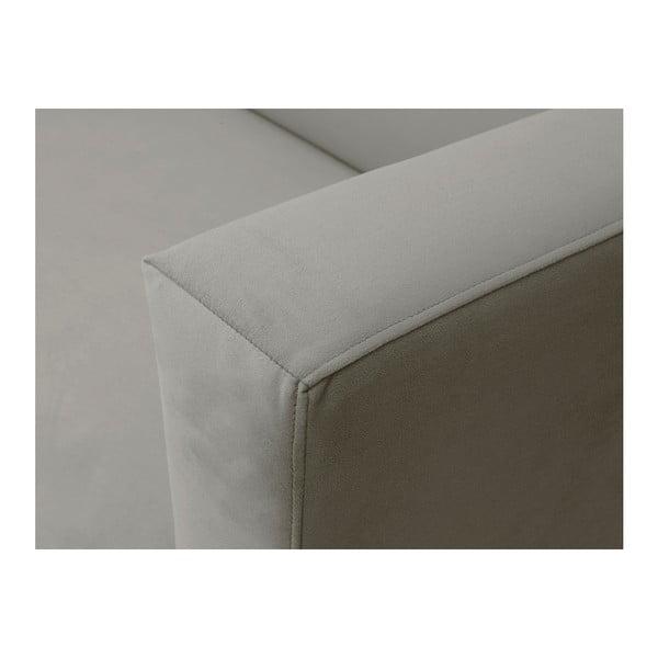 Beżowy aksamitny fotel Windsor & Co Sofas Neptune
