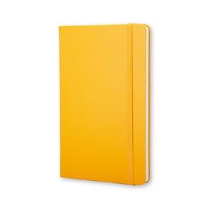 Żółty notatnik w kratkę Moleskine Hard, mały
