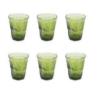 Zestaw 6 szklanek Kaleidoskop 360 ml, zielony