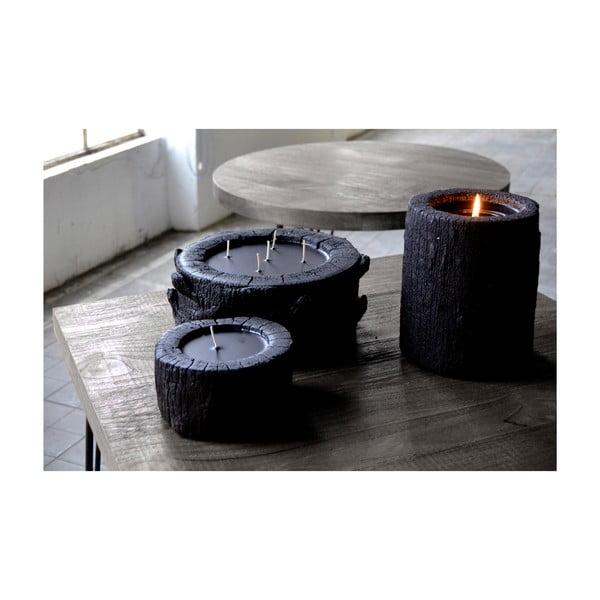 Palmowa świeczka Legno Dark o zapachu lilii wodnej, 80 godzin palenia