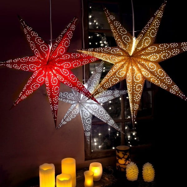 Gwiazda dekoracyjna Five Pink, 60 cm