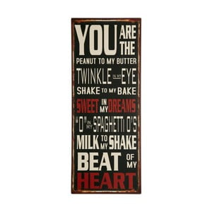 Tablica You are the peanut, 76x31 cm