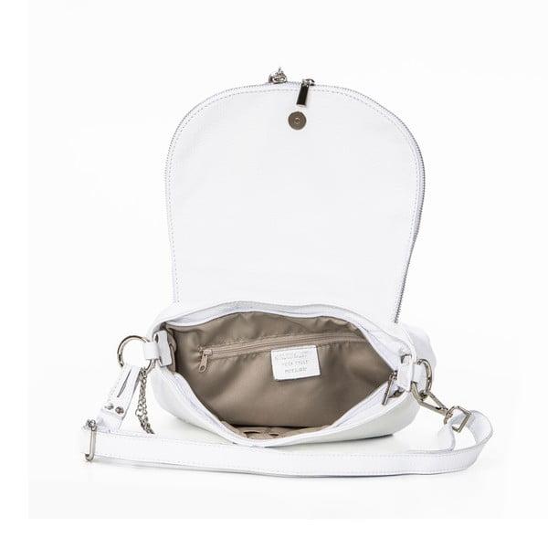 Skórzana torebka Paolo, biała