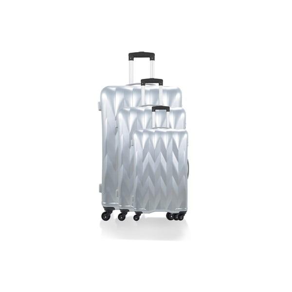 Zestaw 3 walizek Heathrow Silver
